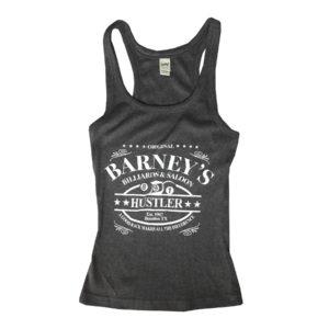 """Barney's """"Hustler"""" Women's Racerback Tank"""